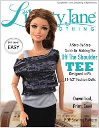Barbie Doll Clothes Patterns New FREE TShirt Pattern For 484848 Fashion Dolls Like Barbie Pixie Faire