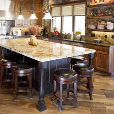Rustic Counter Stools Kitchen Kitchen Charming Rustic Kitchen Design Idea With Chevron Dining