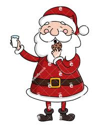 cookies for santa clip art. Brilliant Cookies Cute Santa Claus Eating A Cookie And Holding Glass Of Milk On Cookies For Clip Art N