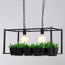 edison lighting fixtures. american country industrial plant pots rectangular iron decorative chandelier e272 loft pendent lighting fixtures a155 edison