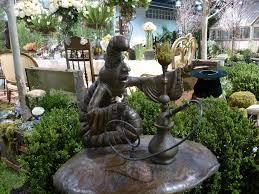 alice wonderland garden statues