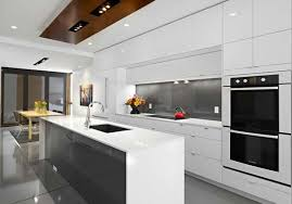 modern white kitchen. Third Stone White Modular Kitchen From LG! Black, Gray And White Combined  To Make This All Modern Classy! Kusina Millenium
