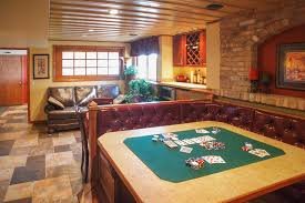 basement hot tub. Finished Basement With Built-In Card Table Hot Tub N