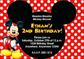 Mickey Mouse Party Printables Free Mickey Mouse Party Invitations Free Personalised Mickey Mouse