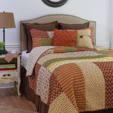 c f home brown santa ana twin quilt set