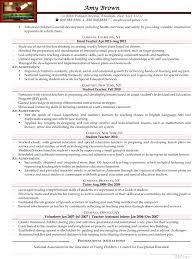 Early Childhood Education Resume Amazing Resume Templates For Young Students With Early Childhood Education