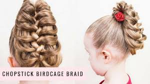 Chopstick Hairstyle chopstick birdcage braid by sweethearts hair youtube 6751 by wearticles.com