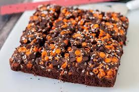 halloween pumpkin brownies box mix