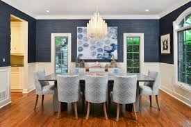 best wall color for small dining room with crystal chandelier lighting and rectangular wood table
