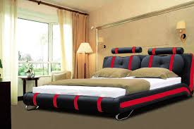 Creative of Luxury King Size Bed Luxury Designer Bed King Size 101 Black  Red Furniture
