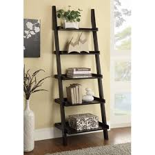 furniture ladder shelves. cappuccino ladder bookcase with 5 shelves furniture gala futons and