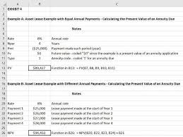Lease Payment Calculator Beauteous Factoring In The Time Value Of Money With Excel Journal Of Accountancy