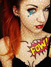 roy lichtenstein pop art makeup