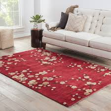 Red Living Room Rug Red Barrel Studio Anselmo Cherry Blossom Red Area Rug Reviews