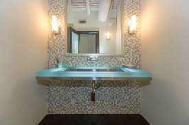 powder room bathroom lighting. interesting room contemporary powder room with undermount sink wall sconce glass counters  tube 2 light in bathroom lighting