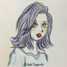 ミディアム ストリート かき上げ前髪 Saki Taguchi 105821hair