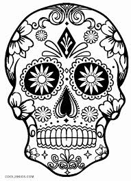 Free Printable Day Dead Coloring Pages Or Printable Skulls