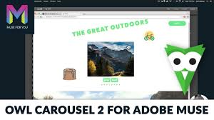 Owl Carousel 2 For Adobe Muse | Adobe Muse CC | Muse For You - YouTube
