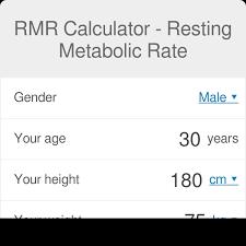 Basal Metabolic Rate Bmr Chart Rmr Calculator Resting Metabolic Rate Calculator Omni