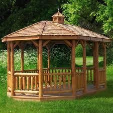 cedar pavilion kits. Brilliant Pavilion Oval Log Gazebo With Cedar Pavilion Kits E