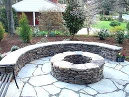 stone fire pit square river stone fire pit build your own awesome square how to best