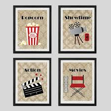home theater wall decor new prints home theater decor wall art showtime by