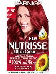 6 60 Fiery Red Hair Colour Nutrisse Garnier