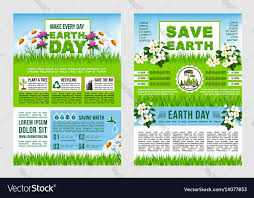 Earth Day Save Planet Information Poster Template