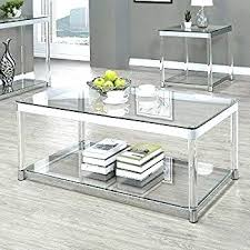 chrome coffee table round glass and chrome coffee table amazing modern glass chrome cross leg coffee