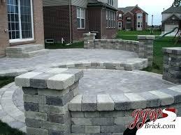 paver patio patterns brick patio designs two tier brick patio design with brick pillars and seating paver patio patterns