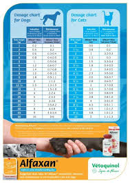 Dosage Chart For Dogs Dosage Chart For Cats Alfaxan