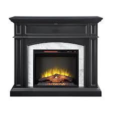 Scott Living 46.5-in W 5100-BTU Dark grey Wood Corner Or Flat Wall