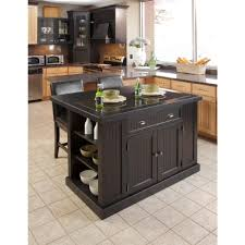 home styles nantucket black kitchen island with granite top
