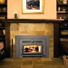 wood fireplace with gas starter burn inserts