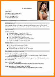 Current Curriculum Vitae Format Dtk Templates