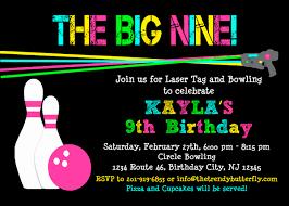Bowling Party Invitation Bowling Birthday Invitation Laser Tag Birthday Invitation Girls
