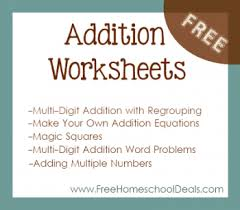 Free Addition Worksheets: Make Your Own Addition Equations, Three ...Free Addition Worksheets From FreeHomeschoolDeals.com