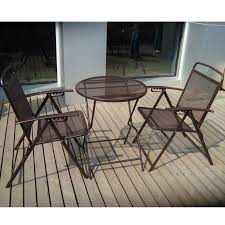 crossman piece outdoor bistro: wrought iron patio table and chairs set