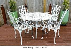 white wrought iron garden furniture. White Iron Garden Furniture Cast Table And Chairs In A  Back Stock . Wrought G