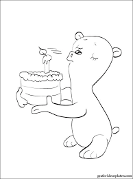 Kleurplaat Verjaardag Kleine Beer Blaast De Kaars Gratis Kleurplaten