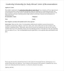 29+ Letters Of Recommendation For Scholarship - Pdf, Doc | Free ...