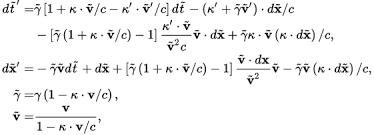 speed of light equation. \\begin{align} d\\tilde{t}\u0027\u003d \u0026 \\tilde speed of light equation f