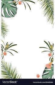 tropical design border frame template