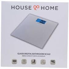 Home Bathroom Scales House Home Glass Digital Bathroom Scales Silver Big W
