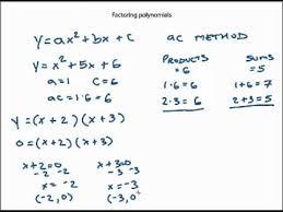 Ac Method Factoring Quadratic Equations Usning The Ac Method Mp4 Youtube