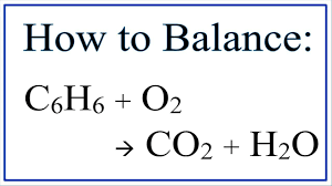 how to balance c6h6 o2 co2 h2o combustion of benzene