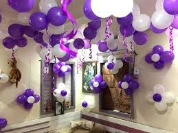 5 simple decoration ideas for birthday purple and white balloon wall decoration ideas balloon decoration images