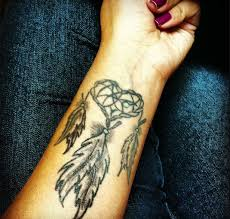 Heart Dream Catcher Tattoo Left Forearm Dreamcatcher Tattoo For Girls 42
