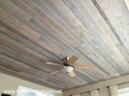 faux rustic plank ceiling via the quaint bedroom to cover that awful popcorn plywood plywood plank ceiling