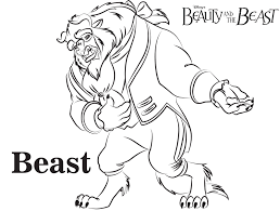 Small Picture Disney S Beauty And The Beast Coloring Pages Sheet Free Inside